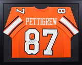 Brandon Pettigrew Autographed Oklahoma State Cowboys #87 Framed Jersey