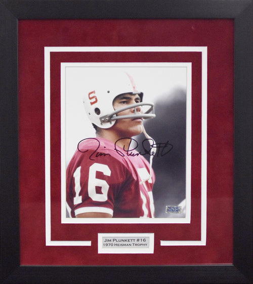 Jim Plunkett Autographed Stanford Cardinal 8x10 Framed Photograph #1
