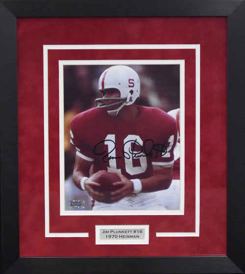 Jim Plunkett Autographed Stanford Cardinal 8x10 Framed Photograph #2