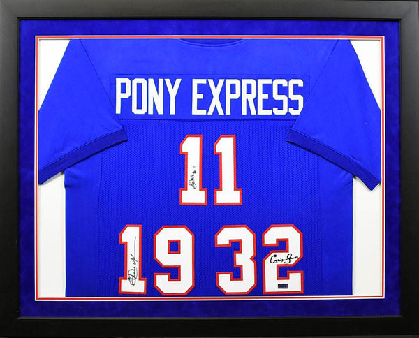 Pony Express Autographed SMU Mustangs Framed Jersey