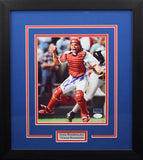 Ivan Rodriguez Autographed Texas Rangers 8x10 Framed Photograph