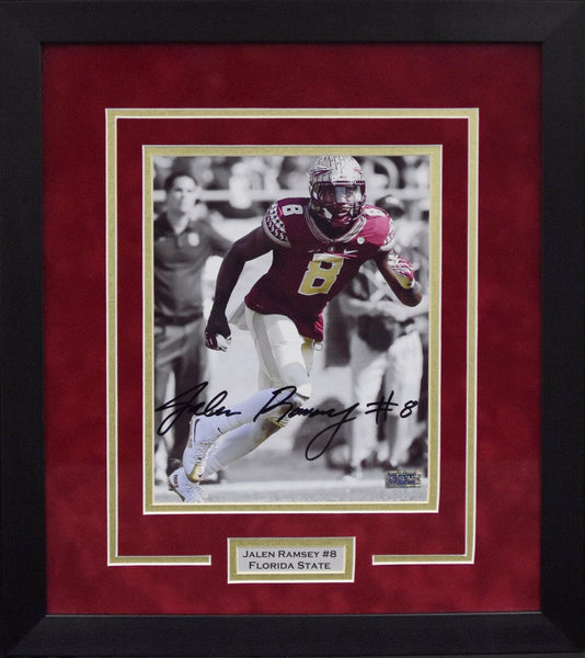 Jalen Ramsey Autographed Florida State Seminoles 8x10 Framed Photograph - Spotlight