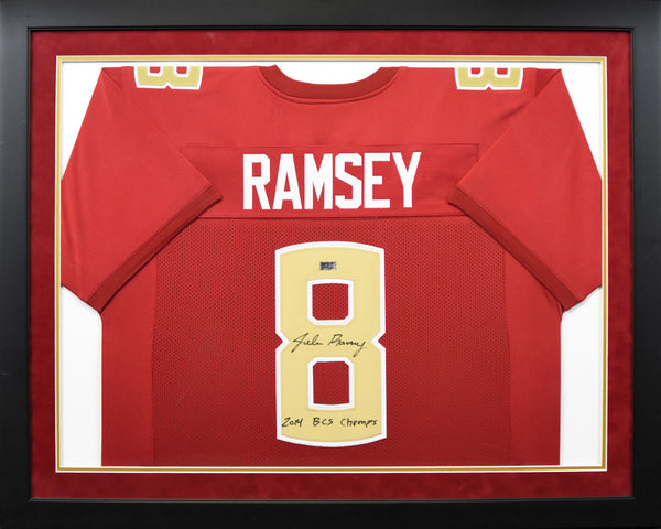 Jalen Ramsey Autographed Florida State Seminoles #8 Framed Jersey