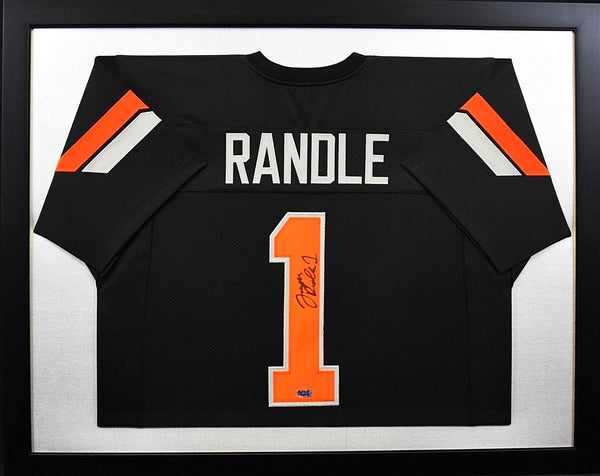 Joseph Randle Autographed Oklahoma State Cowboys #1 Framed Jersey