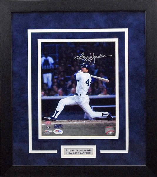 Reggie Jackson Autographed New York Yankees 8x10 Framed Photograph