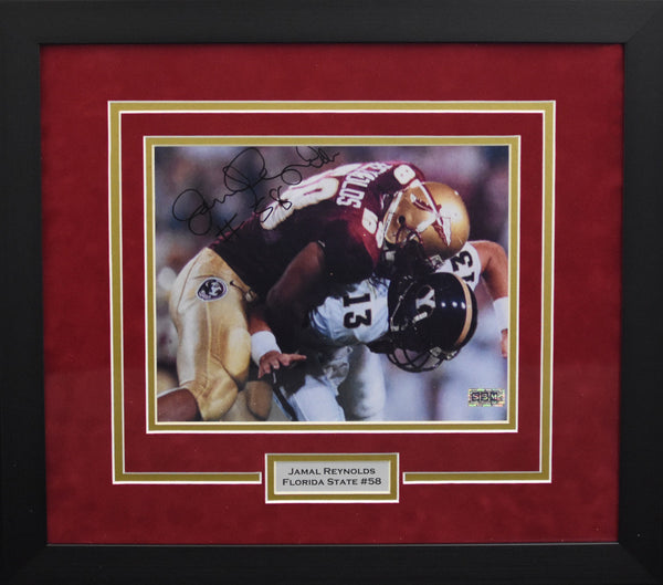 Jamal Reynolds Autographed Florida State Seminoles 8x10 Framed Photograph