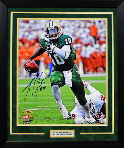 Robert Griffin III Autographed Baylor Bears 16x20 Framed Photograph vs Texas