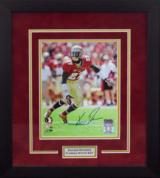 Xavier Rhodes Autographed Florida State Seminoles 8x10 Framed Photograph