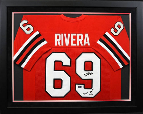 Gabe Rivera Autographed Texas Tech Red Raiders #69 Framed Jersey