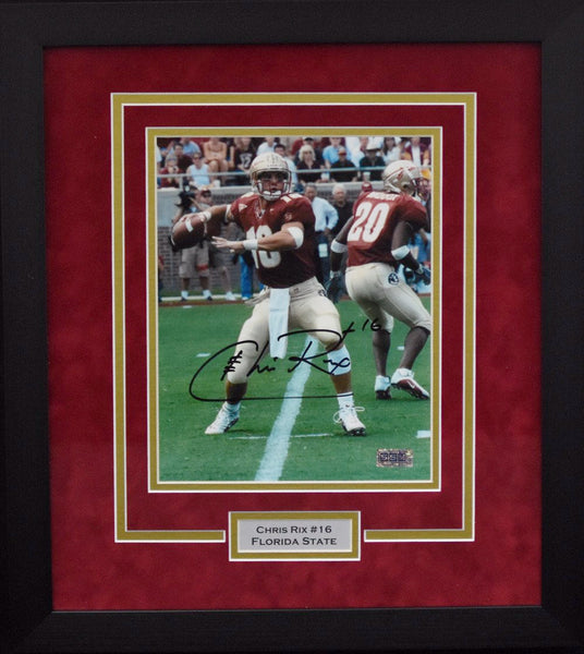 Chris Rix Autographed Florida State Seminoles 8x10 Framed Photograph #2