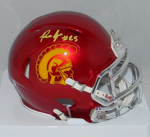 Ronald Jones II Autographed USC Trojans Chrome Speed Mini Helmet