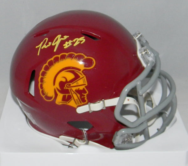 Ronald Jones II Autographed USC Trojans Speed Mini Helmet