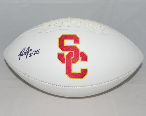 Ronald Jones II Autographed USC Trojans Logo Football
