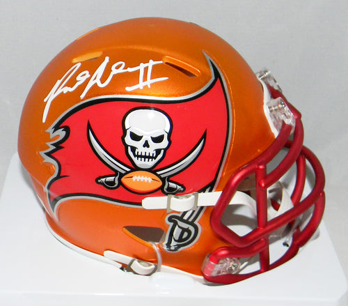 Ronald Jones II Autographed Tampa Bay Buccaneers Blaze Speed Mini Helmet