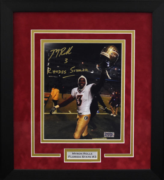 Myron Rolle Autographed Florida State Seminoles 8x10 Framed Photograph