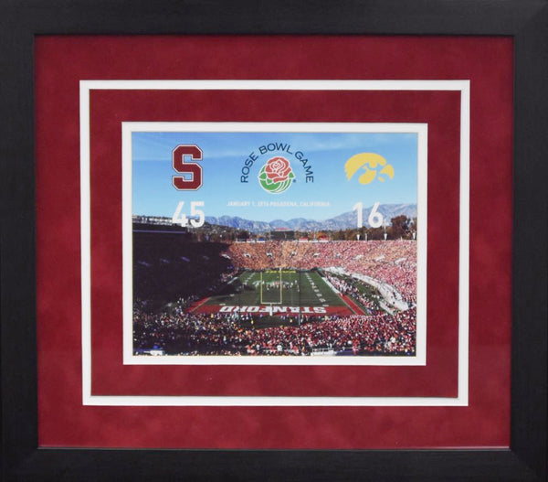 Stanford Cardinal 2016 Rose Bowl 8x10 Framed Photograph (Score)