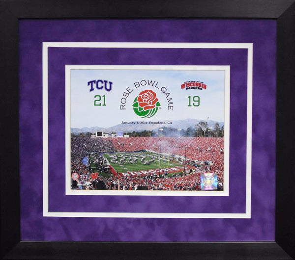 TCU Horned Frogs 2011 Rose Bowl 8x10 Framed Photograph (Score)