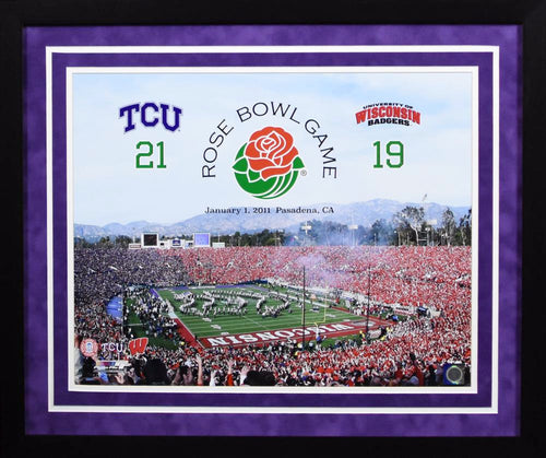 TCU Horned Frogs 2011 Rose Bowl 16x20 Framed Photograph (Score)