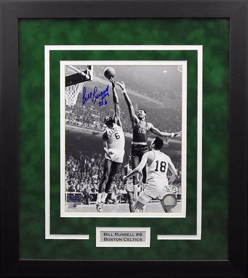 Bill Russell Autographed Boston Celtics 8x10 Framed Photograph