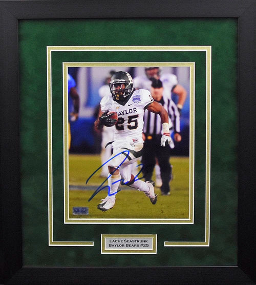 Lache Seastrunk Autographed Baylor Bears 8x10 Framed Photograph (Holiday Bowl)