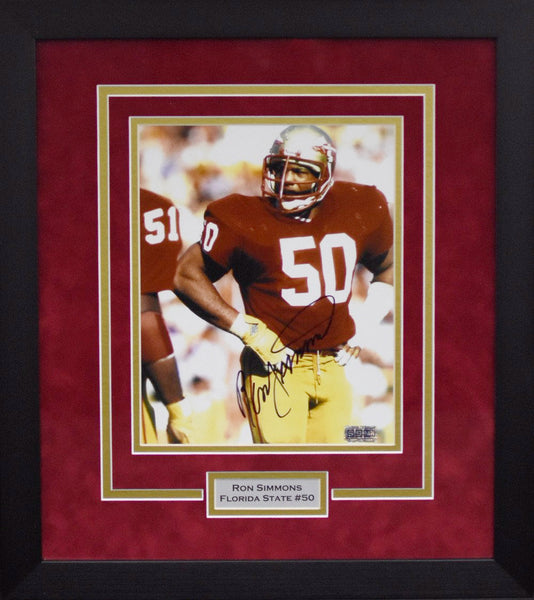 Ron Simmons Autographed Florida State Seminoles 8x10 Framed Photograph