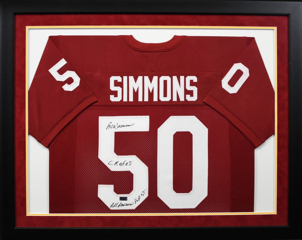 Ron Simmons Autographed Florida State Seminoles #50 Framed Jersey