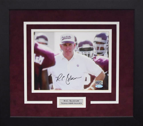 RC Slocum Autographed Texas A&M Aggies 8x10 Framed Photograph