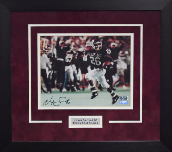 Kevin Smith Autographed Texas A&M Aggies 8x10 Framed Photograph