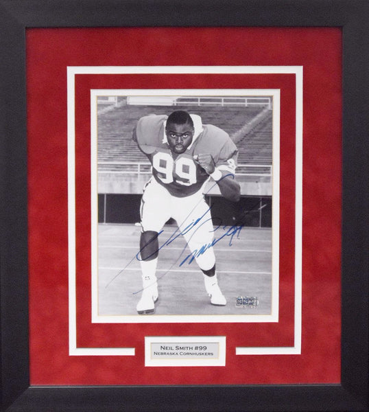 Neil Smith Autographed Nebraska Cornhuskers 8x10 Framed Photograph