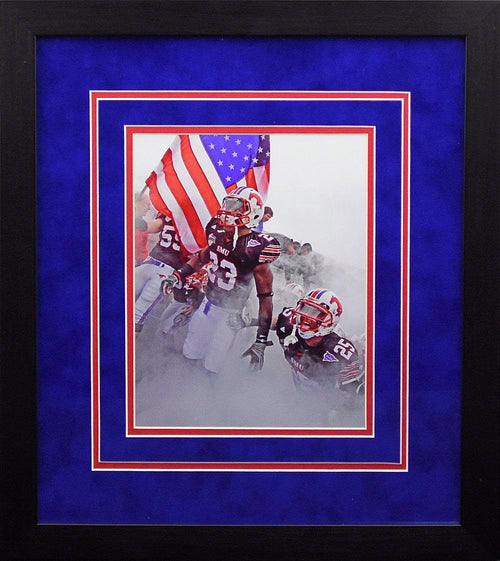 SMU Mustangs USA Flag 8x10 Framed Photograph