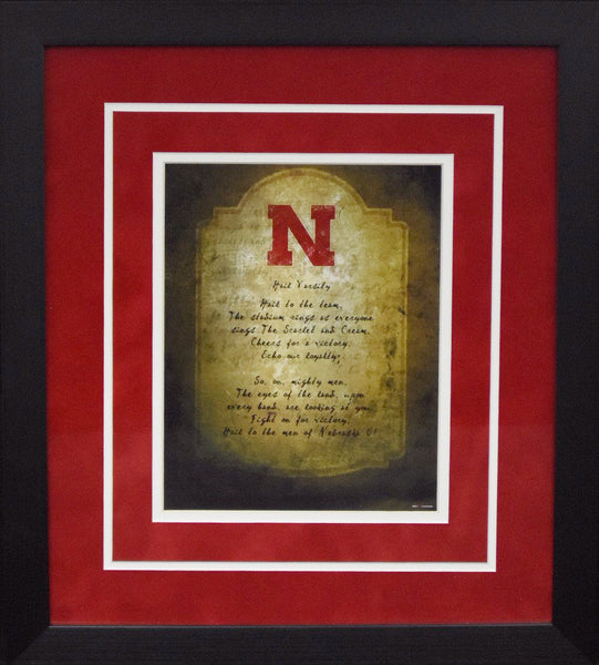 Nebraska Cornhuskers Fight Song 8x10 Framed Photograph