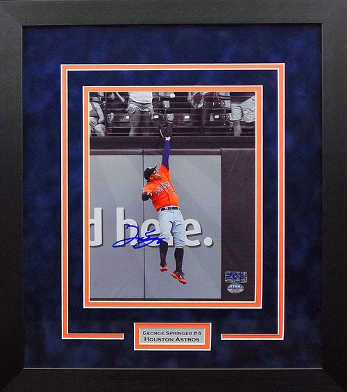George Springer Autographed Houston Astros 8x10 Framed Photograph