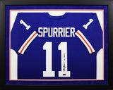 Steve Spurrier Autographed Florida Gators #11 Framed Jersey