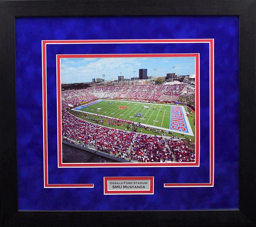 SMU Mustangs Gerald Ford Stadium 8x10 Framed Photograph (Day)