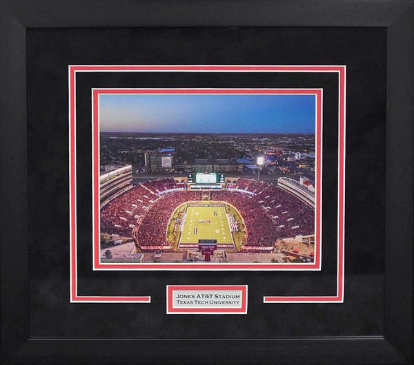 Texas Tech Red Raiders Jones AT&T Stadium 8x10 Framed Photograph (Night)