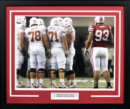los angeles 81c01 69be4 Dave Rimington Autographed Nebraska Cornhuskers #50 Framed ...