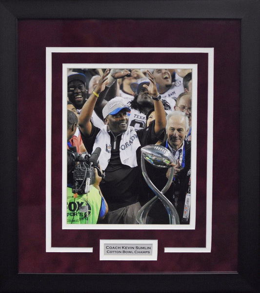 Kevin Sumlin Texas A&M Aggies 8x10 Framed Photograph (Cotton Bowl)