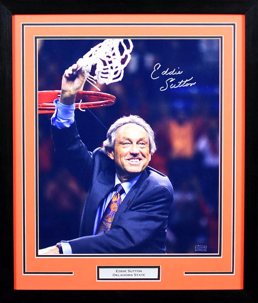 Eddie Sutton Autographed Oklahoma State Cowboys 16x20 Framed Photograph