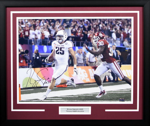 Ryan Swope Autographed Texas A&M Aggies 16x20 Framed Photograph (Cotton Bowl)