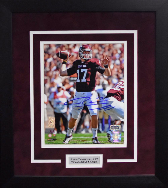 Ryan Tannehill Autographed Texas A&M Aggies 8x10 Framed Photograph