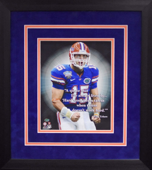Tim Tebow Quote Florida Gators 8x10 Framed Photograph