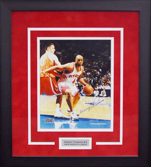 Kenny Thomas Autographed New Mexico Lobos 8x10 Framed Photograph