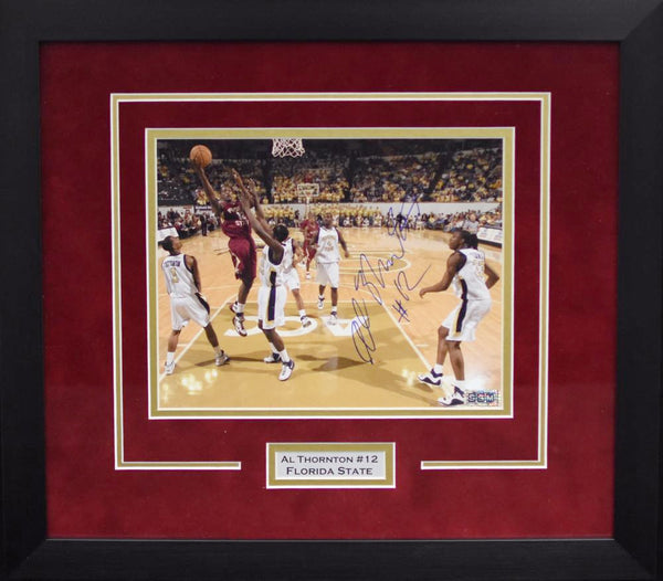 Al Thornton Autographed Florida State Seminoles 8x10 Framed Photograph vs Georgia Tech