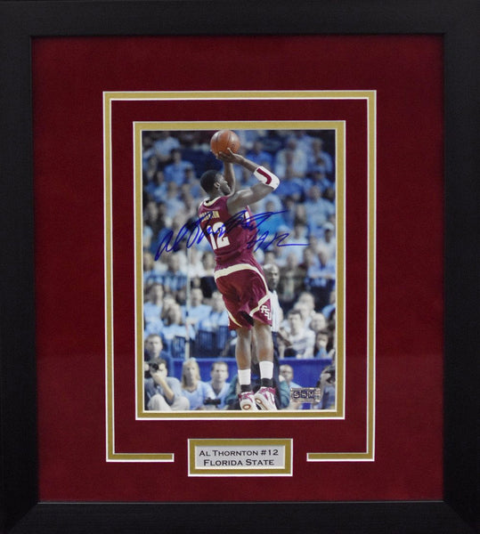 Al Thornton Autographed Florida State Seminoles 8x10 Framed Photograph vs North Carolina
