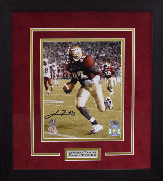 Lawrence Timmons Autographed Florida State Seminoles 8x10 Framed Photograph