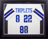 Cowboys Triplets Autographed Dallas Cowboys Framed Jersey