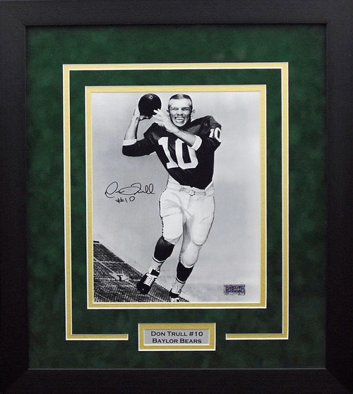 Don Trull Autographed Baylor Bears 8x10 Framed Photograph