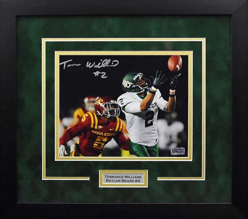 Terrance Williams Autographed Baylor Bears 8x10 Framed Photograph