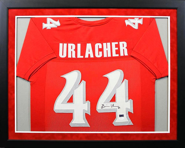 Brian Urlacher Autographed New Mexico Lobos #44 Framed Jersey