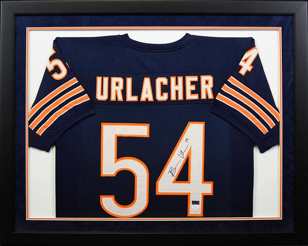 new concept 18fd0 69e09 Brian Urlacher Autographed Chicago Bears #54 Framed Jersey
